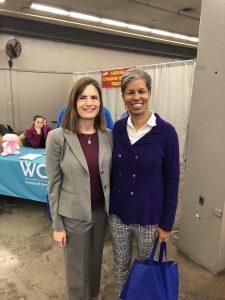 Director Wanda Wright of the Arizona Department of Veterans' Services with WCUI's Susan Ciardullo