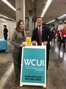 Congressman Greg Stanton with WCUI's Susan Ciardullo